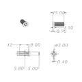 Audiocore DH0118 Grille Fastener